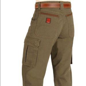 Wrangler Rigg's Ripstop cargo pants army green